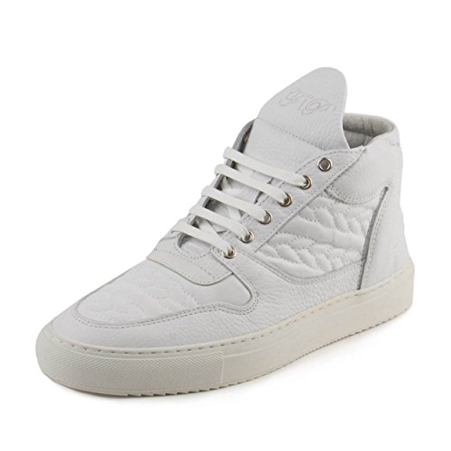 FILLING PIECES Mens Mid Top Transformed Bracelet White Leather Size 40