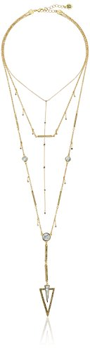 "House of Harlow South Point Howlite Layered Strand Necklace, 14"" + 2"" Extender"