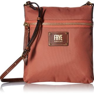 FRYE Ivy Zip Crossbody Nylon Handbag, Dusty Rose