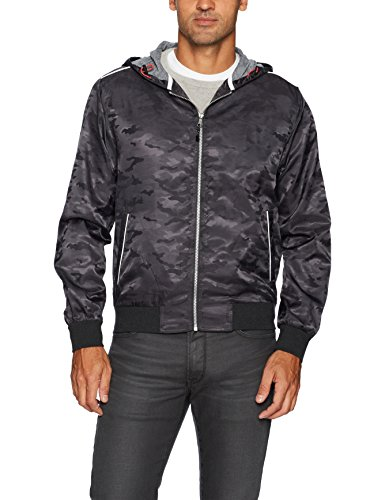Robert Graham Men's Peekskill Woven Outerwear, Carbon, Medium