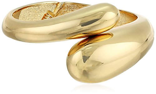 Kenneth Jay Lane Polished Gold Overlapped Bracelet