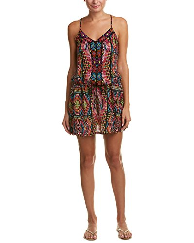 Nanette Lepore Women's Mayan Mosaic Short Dress Cover up, Multi, M
