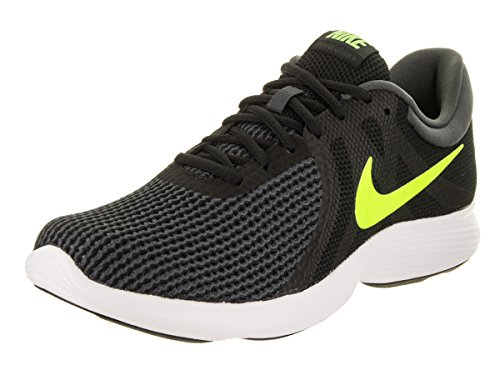 NIKE Men's Revolution 4 Running Shoe Black/Volt/Anthracite/White Size 11 M US