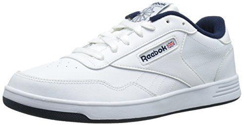 Reebok Men's Club MEMT Fashion Sneaker, White/Collegiate Navy, 9 M US