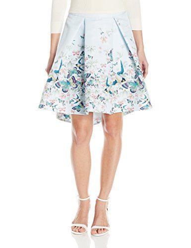 Ted Baker Women's Reylia Entangled Enchantment Skirt, Baby Blue, 2