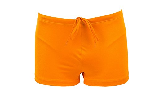 Just Cavalli Men Orange Square Cut Swim Shorts Lycra Beach Boxer Briefs Swimsuit L US EU 52