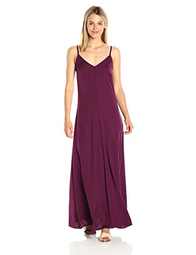 A|X Armani Exchange Women's Spaghetti Strap V Neck Woven Maxi Dress, Purple, 4