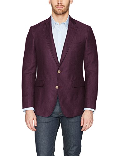 Robert Graham Men's Road Tailored Fit Sportcoat, Raspberry, 38