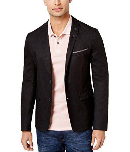 Hugo Boss Mens Corded Two Button Blazer Jacket Black 42