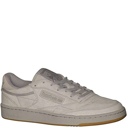 Reebok Men's Club Fashion Sneaker, Steel/Carbon-Gum, 10 M US