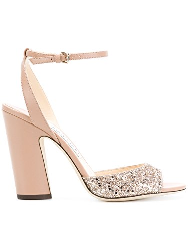 JIMMY CHOO Women's Miranda100pink Pink Leather Sandals