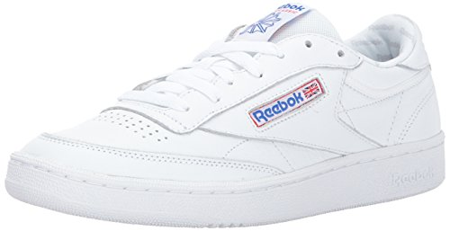 Reebok Men's Club Fashion Sneaker, White/LGH Solid Grey/Vital Blue/Prml Red/Blk, 9 M US