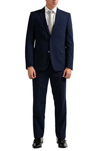 Versace Collection Wool Navy Two Button Men's Suit US 38 IT 48;