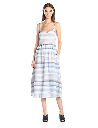 Mara Hoffman Women's Spaghetti Midi Dress, Blue/Multi, 4