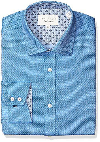 "Ted Baker Men's Murphy Slim Fit Dress Shirt, Navy, 16"" Neck 32-33"" Sleeve"