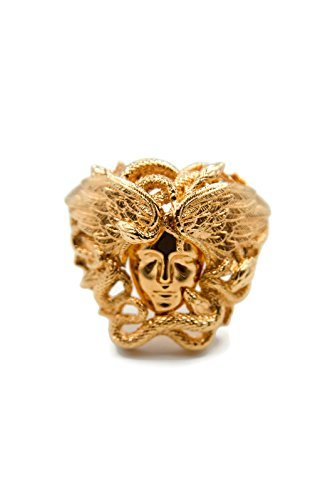 Versace Winged Medusa Celebrity Campaign Cocktail Statement Ring