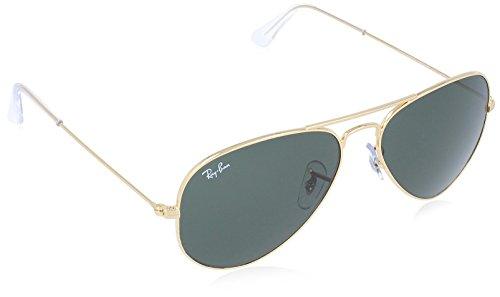 RAY-BAN Aviator Sunglasses, Gold, 55 mm