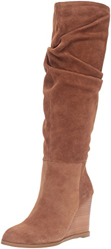 French Connection Women's Chevron Slouch Boot, Tan, 36.5 EU/6.5 M US