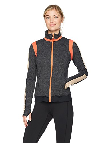 Trina Turk Recreation Women's Color Blocked Moss Jacket, Grey, S
