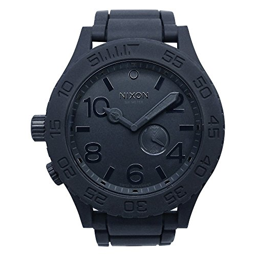 NIXON Quartz Stainless Steel and Silicone Watch, Color:Black