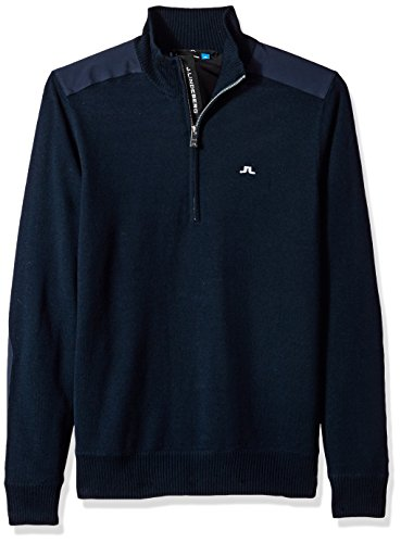 J.Lindeberg Men's Windstopper Sweater, JL Navy, L