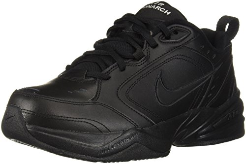 NIKE Men's Air Monarch Iv Cross Trainer,black/black,10.5 4E US