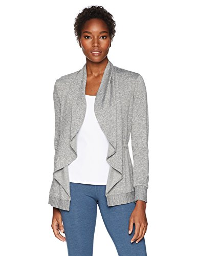 Trina Turk Recreation Women's Knuckle Down French Terry Wrap Jacket, Cement, Large