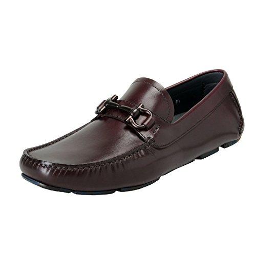 Salvatore Ferragamo Men's Parigi8 Leather Slip On Loafers Moccasins Shoes US 8EEE IT 7EEE EU 41EEE