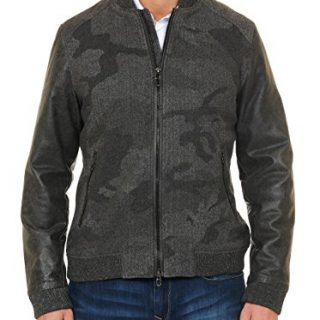 Robert Graham Men's Evanson Bomber Jacket, Charcoal, Large