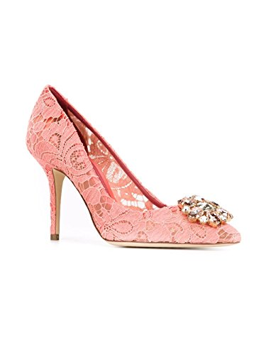 Dolce e Gabbana Women's Pink Cotton Pumps