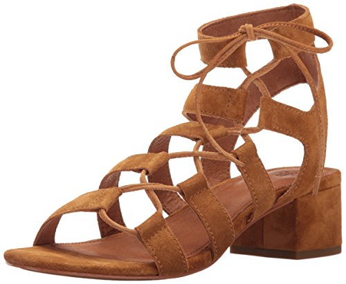 FRYE Women's Chrissy Side Ghillie Dress Sandal, Cognac, 7 M US
