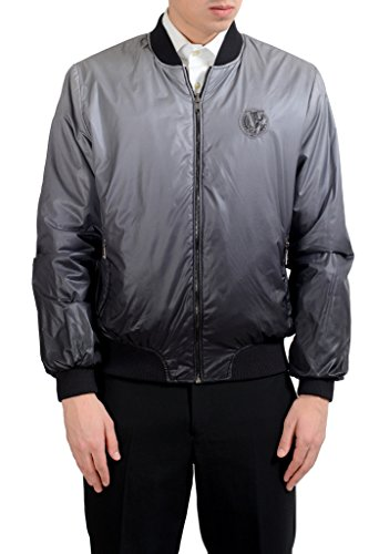 Versace Jeans Men's Reversible Full Zip Bomber Windbreaker US XS IT 46;