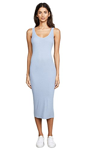 Enza Costa Women's Rib Tank Dress, Powder Blue, X-Small