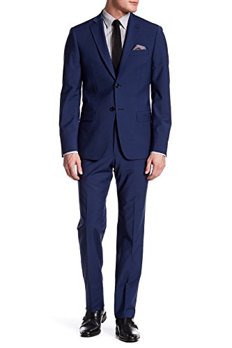 John Varvatos Blue Two Button Notch Lapel Wool Blend Suit for Men in Blue, 46 L