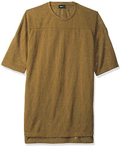 Publish Brand INC. Men's Declan Short Sleeve Shirt, Brown, Large
