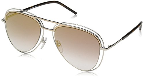 Marc Jacobs Men's Aviator Sunglasses, PALLADIUM/GOLD, 54 mm