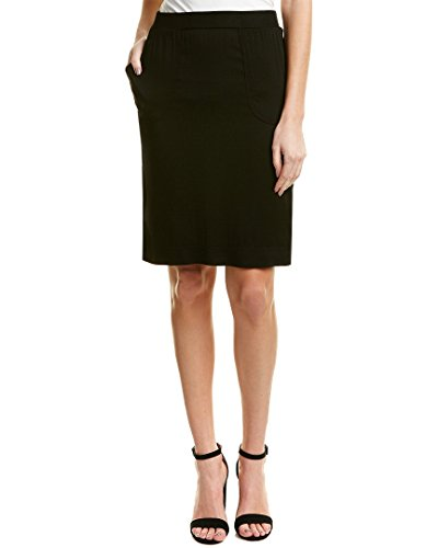 Michael Stars Womens Straight Skirt, M, Black