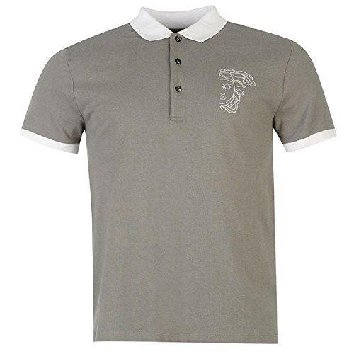 Versace Jeans Gray Pique Polo T-Shirt (XL)