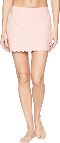 Kate Spade New York Women's Marina Piccola Textured Scallop Pull-On Skirt Cover-up Aloha Pink X-Small