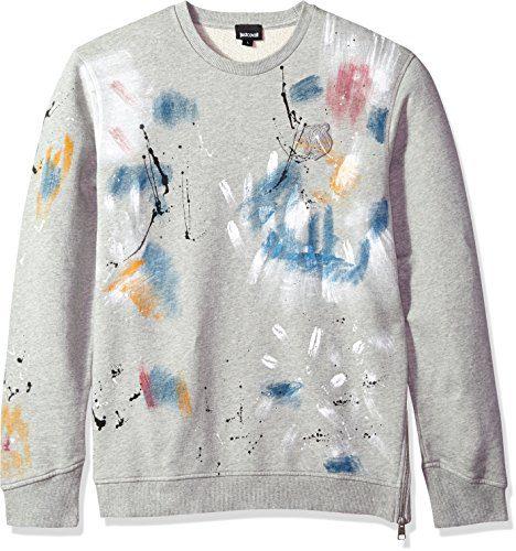 Just Cavalli Men's Sweatshirt, Grey Melange, L