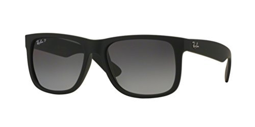 RB Justin Sunglasses (55 mm Matte Black Frame Polarized Black Lens, 55 mm Matte Black Frame Polarized Black Lens)