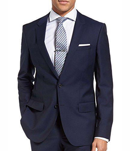 Hugo Boss C-Huge1S Jacket Virgin Wool Slim Fit Men's Blazer Dark Royal Blue Sport Coat by Hugo (40 Regular USA)