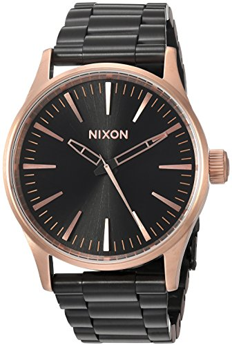 Nixon Women's 'Sentry 38 SS' Quartz Metal and Stainless Steel Watch, Color:Black