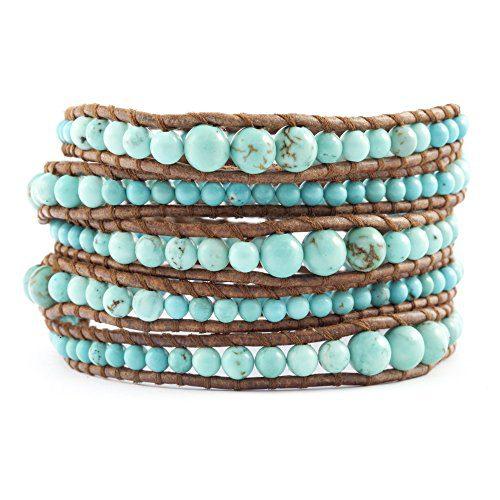 Chan Luu Graduated Turquoise Wrap Bracelet