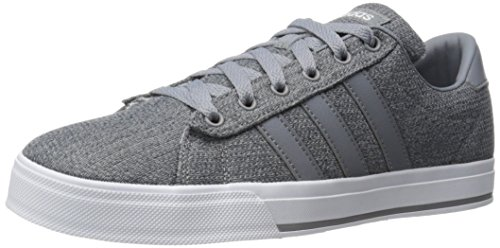 adidas Neo Men's Daily Fashion Sneaker, Grey/Tech Grey/White, 10 M US