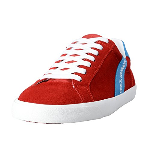 Dolce & Gabbana Women's Red Suede Leather Fashion Sneakers Shoes US 8.5 IT 38.5 Dolce Sz 5