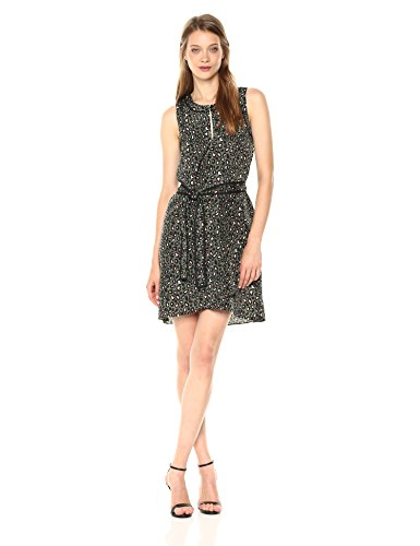 A|X Armani Exchange Women's Leopard Printed Tank Dress, Green Copenaghen PRI, 12