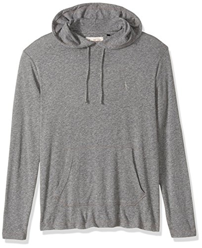 Original Penguin Men's Pullover Tri-Blend Hoodie, Athletic Grey Heather, Large