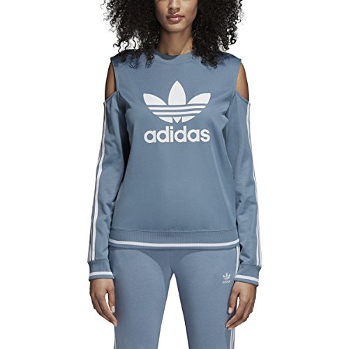 Adidas Women Originals Cutout Sweater (XS, Raw Grey)