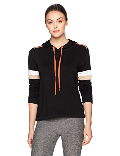 Trina Turk Recreation Women's Mod Squad Pull Over Hoodie, Black, S